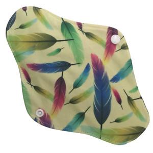 5 X REUSABLE SANITARY TOWELS PADS BAMBOO CLOTH WASHABLE MENSTRUAL ECO CSP PAD