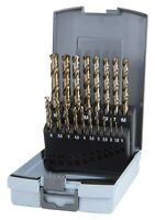RUKO 19pcs. Cobalt Drill Bit Set 1.0-10.0mm, HSSE-Co5, Type VA, MADE IN GERMANY