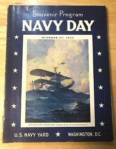 Vintage 1937 Souvenir Program Navy Day U.S. Navy Yard Washington D.C. *RARE*