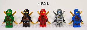 Lego Ninjago Jungle Robe Minifigures Lot Tournament of Elements w/ Weapons
