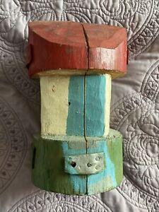 Hidden Retablo Viviano Vargas Venezuelan Folk Art Painted Wood Carve 1970's