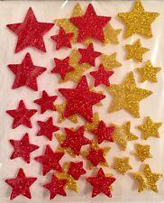 Glocken Gold Nr Glitzer 7073 Stickerbogen Weihnachten