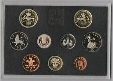 More details for royal mint 1989 deluxe proof set of 9 coins with certificate.