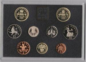 Real Casa de Moneda 1989 de Lujo Prueba Conjunto De 9 Monedas Con Certificado
