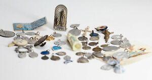 Gros Lot Religieux Vide Tiroir Médailles,Statue,Croix,Dizainier