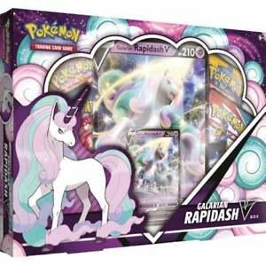 Pokemon - Galarian Rapidash V Box - 4 Pokémon TCG booster packs