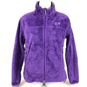 Womens Small Mountain Hardwear Purple Fuzzy Fleece jacket