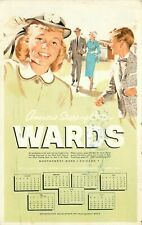 Joplin MO Wards 1959 Calendar PC~Happy Family After Church~Father Smokes Pipe~Ad