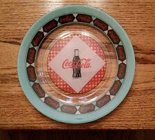 """RETRO COCA COLA COKE SODA ARCOROC FRANCE GLASS DINNER PLATE DISH 9.5"""" DEAL/4"""