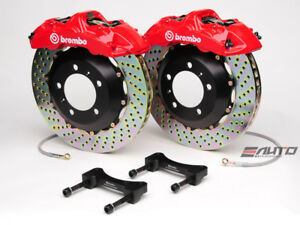 Brembo Front GT BBK Brake 6pot Red 365x34 Drill for Genesis Coupe 2.0T 3.8 09-13