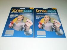 2 pack Screenmend Window and Door Screen DIY Repair   Silver/Grey   5 x 7 inch