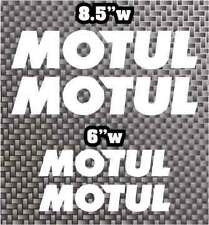 4x Motul motor oil decal sticker Moto GP motorcycle or car Belly Pan FREE SHIP