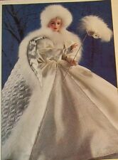 "Nrfb $400 Franklin Mint Doll Snow Queen Masquerade Porcelain 22"" by J Reavy"