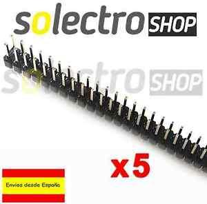 5x TIRA DOBLE 80 PINES MACHO 2x40 double row male soldar Arduino pin header PCB