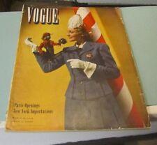 March 15 1940 Vogue Vanity Fair Magazine Paris Openings John & Diana Barrymore