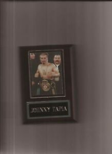 JOHNNY TAPIA PLAQUE BOXING