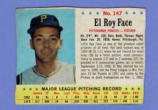 1963 POST CEREAL CARD # 147 EL ROY FACE PITTSBURGH PIRATES..........2264