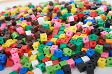 100 x 1cm Cubes - Counting Interlocking Snap Building Maths Home Early Learning