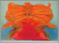 """Jean MESSAGIER - """"Omaggio a Fellini"""", 1976 - Litografia, 50 x 70 cm"""