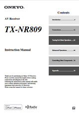 Onkyo TX-NR809 Tuner Owners Manual comb binding