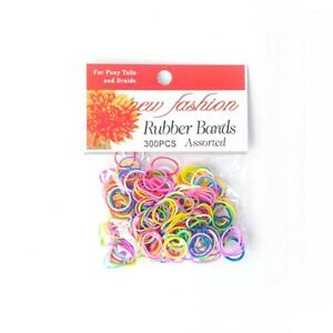 New Fashion Braid & Ponytail Rubber Bands - 300 Pack - Hair Ties - For Styling