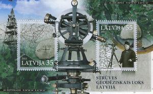 Stamp of LATVIA 2011 - The Struve Geodetic Arc (Souvenir SHEET) MNH
