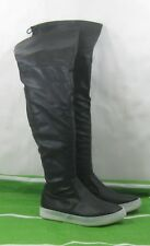 Womens Black Round Toe Over Knee Sexy Boots Size 7