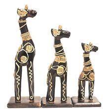 jirafa 3 giraffenset holzgiraffe Animales África Figura Decorativa