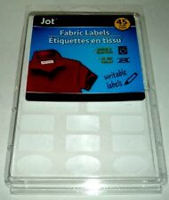 JOT Fabric Labels 45 Ct. Washer & Dryer Safe - No Iron Needed Writable NIP