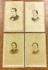 4 CIVIL WAR ERA FAMILY CDV PHOTO PORTRAITS AKRON OHIO 1860s revenue Stamps