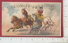 A032 Veneable's Tobacco trade card horse chariot C. E. White cigar snuff Boston