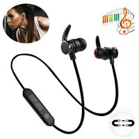 Wireless Bluetooth Headphone Magnetic Earbuds Super Bass Earphone For Samsung LG
