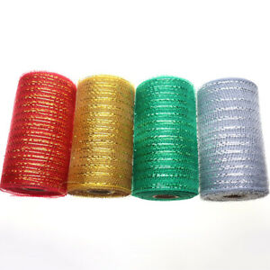 10Yard for Wreaths Making Gift Package Poly Mesh Ribbon Christmas Decoration