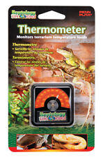 Reptile Penn Plax Reptology Square Dial Stick on Thermometer