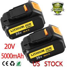 20V 5.0 Ah For DEWALT DCB205-2 20 Volt Lithium MAX Battery Packs DCB204-2 DCB206