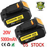DCB205 For Dewalt 20v 5.0Ah Replacement MAX XR Lithium Ion Battery DCB203 2 pack