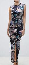 Asos Little Mistress Velvet Lace Trim Maxi Dress In Floral Multi Nwt Size 6