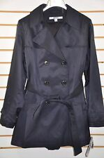 NWT Women's DKNY Double Breasted Trench Coat with Detachable Hood. Sz.PL(Petite)