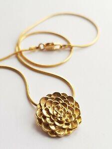 "Ola Gorie 9ct Gold Kimono Pendant 18"" Snake Chain Scottish Boxed"