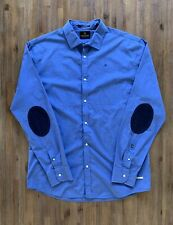 SCOTCH & SODA Size XXL Long Sleeve Button Shirt with Corduroy Suede Patch Men's