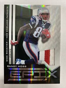 2010 Panini Epix Randy Moss 4 COLOR GAME USED PATCH! SP 48/50! MINT! 📈🔥🐐