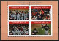 Chad Baseball Stamps 2019 MNH Washington Nationals Winners World Series 4v M/S