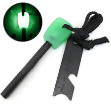 Magnesium Flint Fire Starter Fire Stick Glowing Emergency Survival Gear Tool Kit