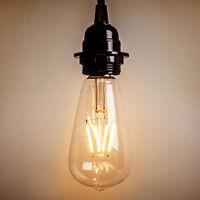 2W 4W 6W 8W LED Vintage Style Edison Filament Bulb Retro Bulb E27 ST64 Lamp Home