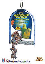 BIRD Swing, Acrilico con cemento Pesce Persico, small-medium VOLATILI pappagallini, canarini ecc.