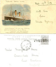 SHIPPING : White Star Line R.M.S. OCEANIC-DUBLIN & QUEENSTOWN TPO/PAQUEBOT-u/b