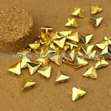 200pcs 12mm Golden Triangle Rivet Spike Punk Bag Belt Leathercraft DIY Rivets