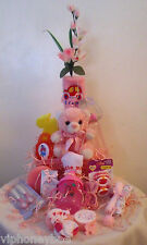 Cute Baby Girl Shower Gift Set- 20 Piece Pink Custom Gift Wrapped in Soft Tulle