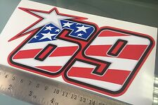 Nicky Hayden número 69 Pegatina/Calcomanía - 200mm X 100mm