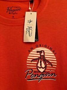 AN ORIGINAL PENGUIN MUNSINGWEAR 686 Spiced Coral T Shirt Top Size Medium BNWT